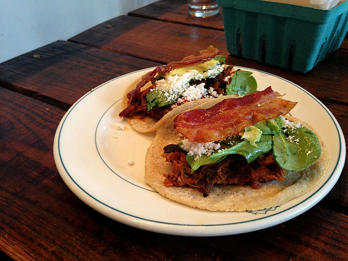 antique taco pork taco