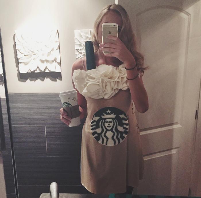 DIY Starbucks Pumpkin Spice Latte Costume Tutorial