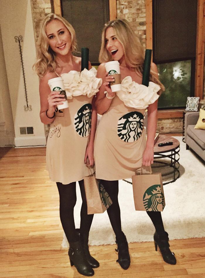 DIY Starbucks Pumpkin Spice Latte Costume